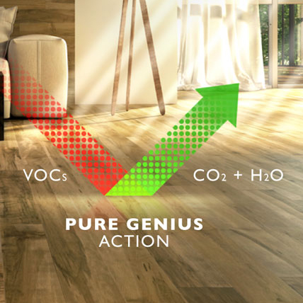 You might be wondering how the material you choose could possibly impact indoor air quality. The fact is many low-quality products are made with adhesives, solvents and finishes that contain volatile organic compounds (VOCs) like formaldehyde and benzene.
